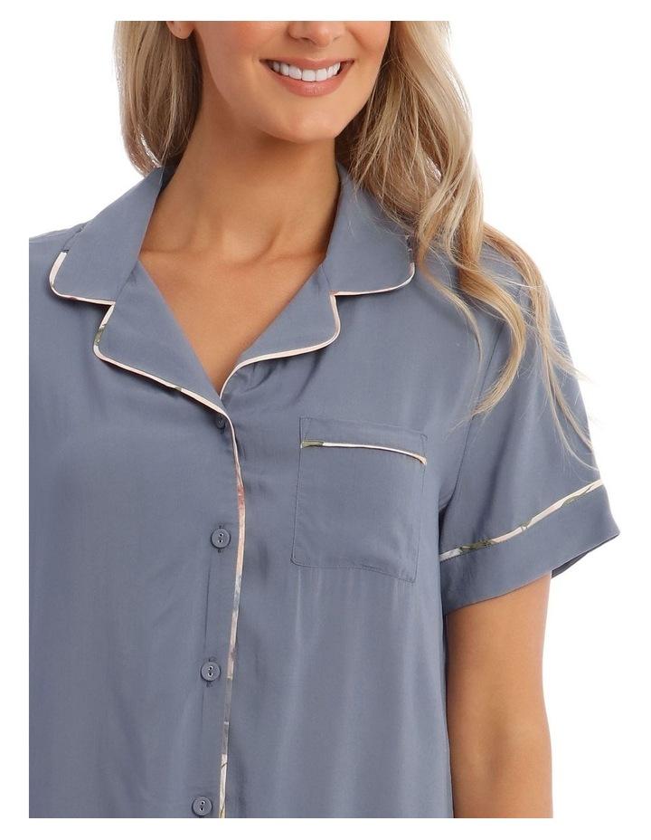 Woven Short Sleeve PJ Set image 3