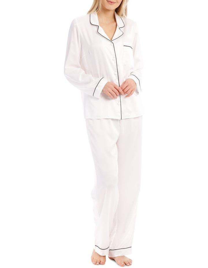 Satin Basics Long Sleeve PJ Set image 1