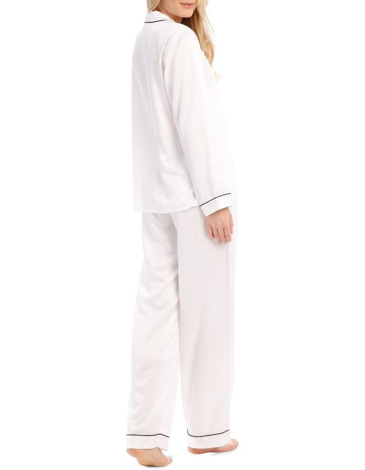 Satin Basics Long Sleeve PJ Set image 2