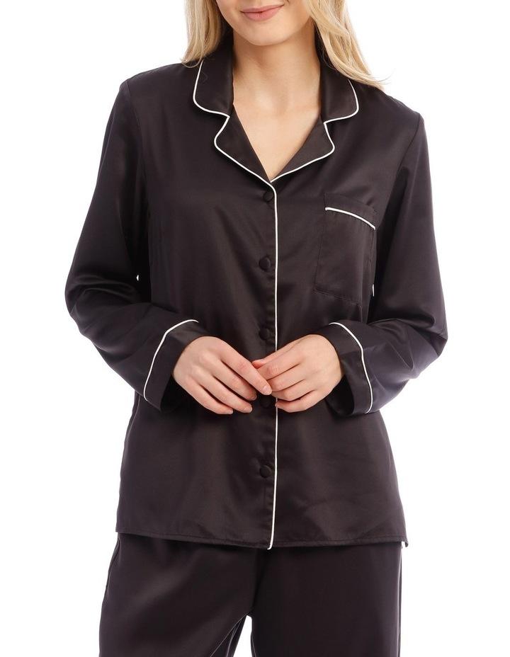 Satin Basics Long Sleeve PJ Set image 3