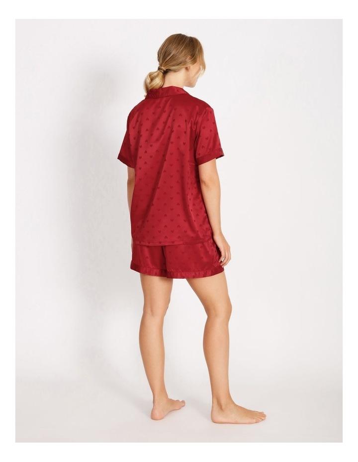 Satin Jacquard Short-Sleeve Pyjama Set image 2