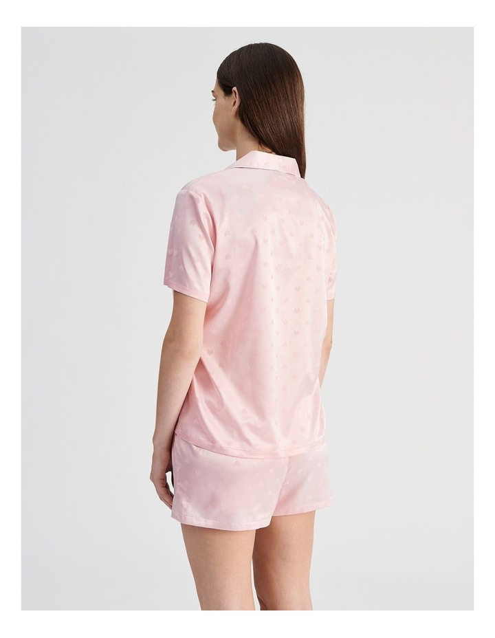 Satin Jacquard Short-Sleeve Pyjama Set image 2