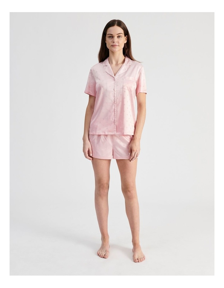 Satin Jacquard Short-Sleeve Pyjama Set image 3