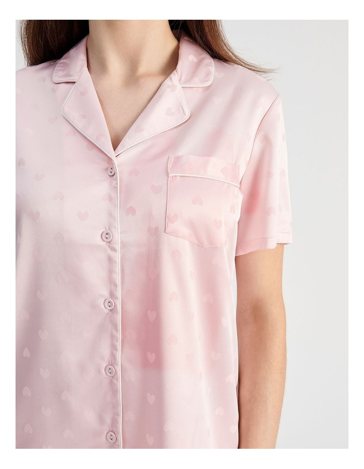 Satin Jacquard Short-Sleeve Pyjama Set image 4
