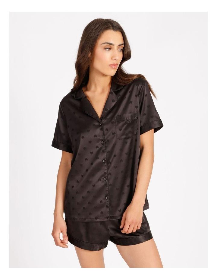 Satin Jacquard Short-Sleeve Pyjama Set image 1