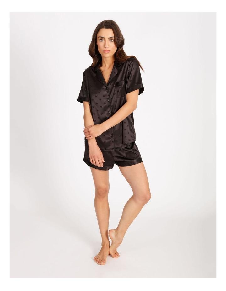 Satin Jacquard Short-Sleeve Pyjama Set image 3