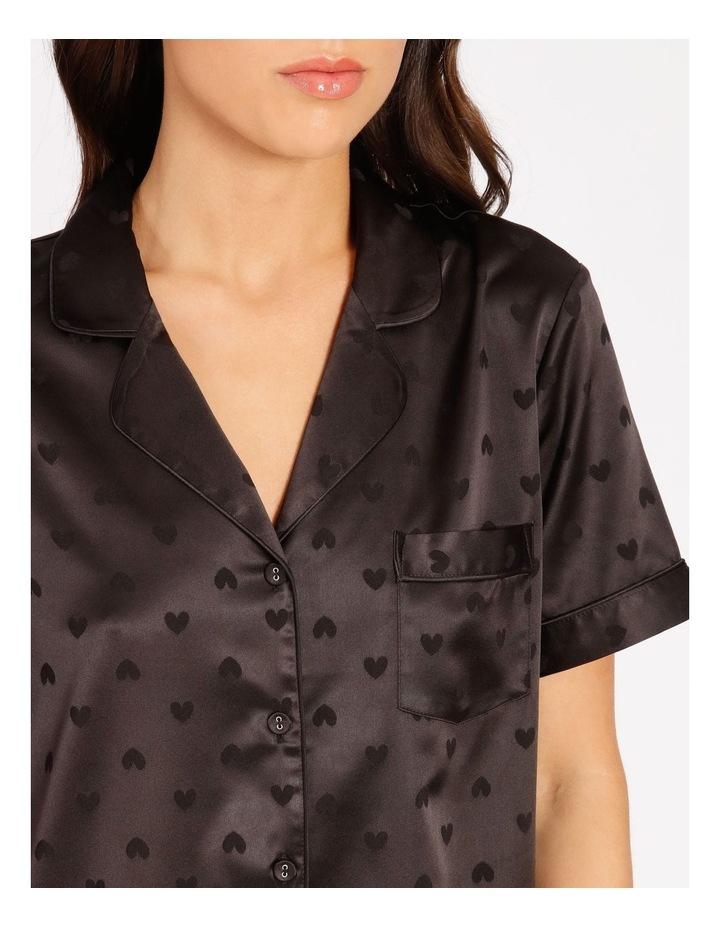 Satin Jacquard Short-Sleeve Pyjama Set image 4
