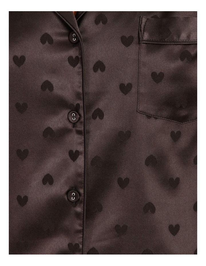 Satin Jacquard Short-Sleeve Pyjama Set image 5