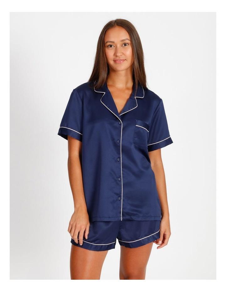 Satin Short Sleeve PJ Set image 1