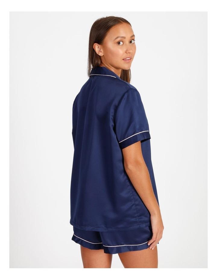 Satin Short Sleeve PJ Set image 2