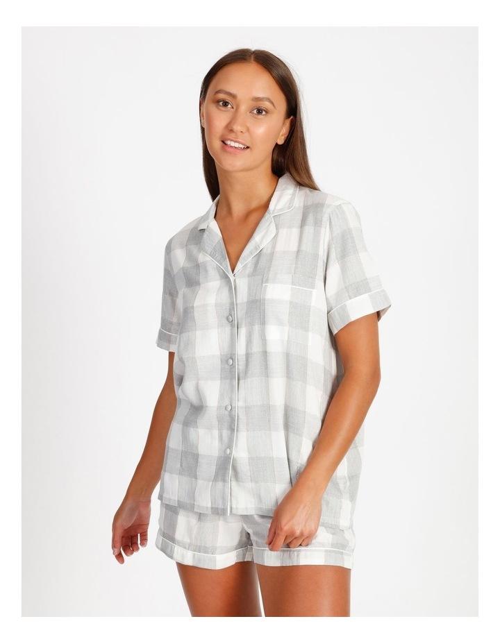Lurex Short-Sleeve Pyjama Set image 1