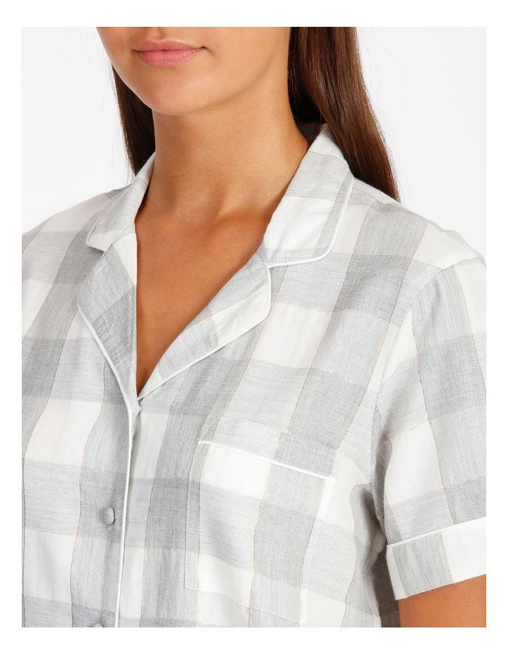 Lurex Short-Sleeve Pyjama Set image 3