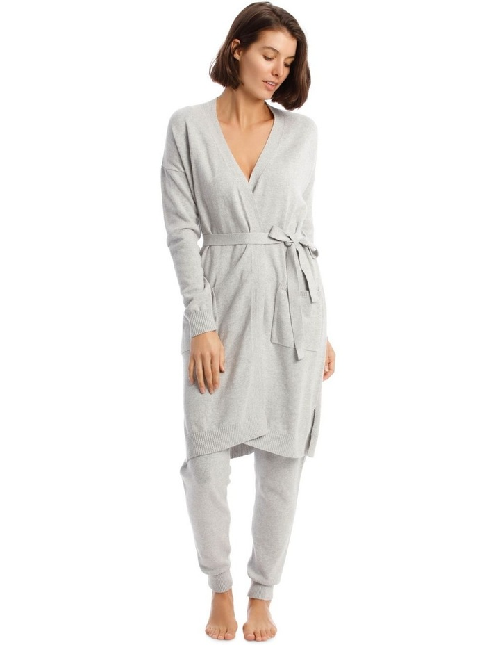 Cosy Comfort Fully-Fashioned Long-Line Cardigan in Grey Marle image 1