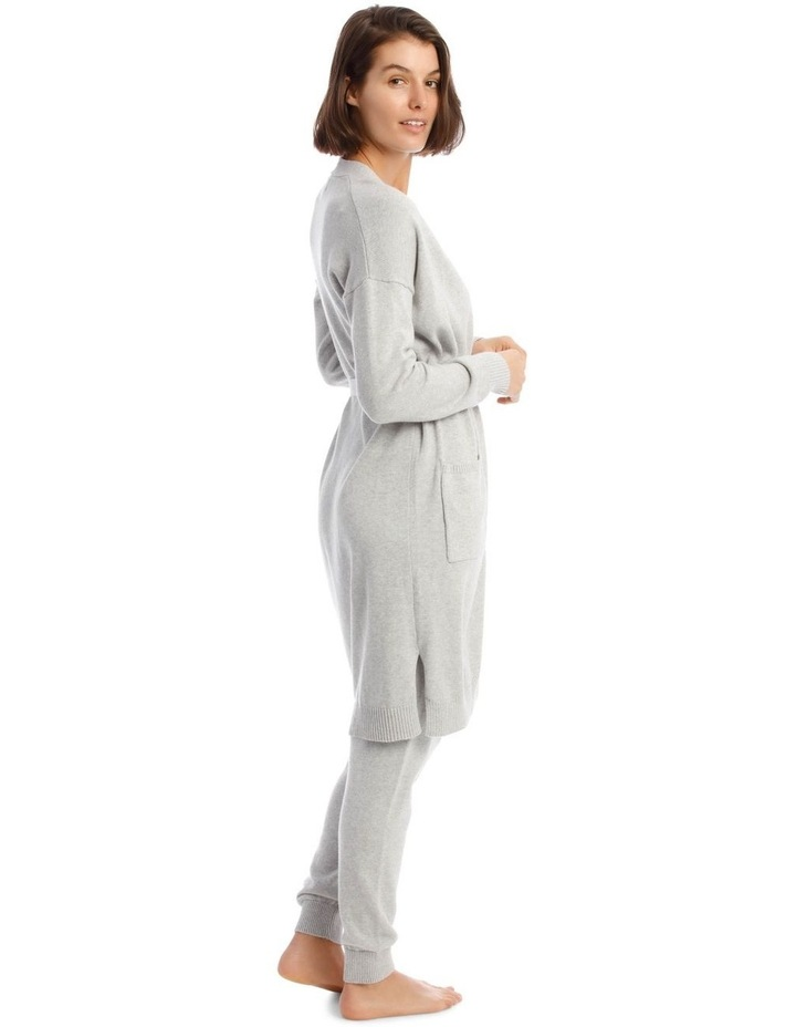 Cosy Comfort Fully-Fashioned Long-Line Cardigan in Grey Marle image 2