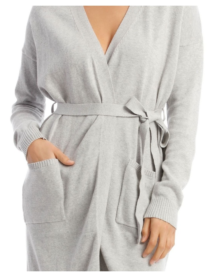 Cosy Comfort Fully-Fashioned Long-Line Cardigan in Grey Marle image 3