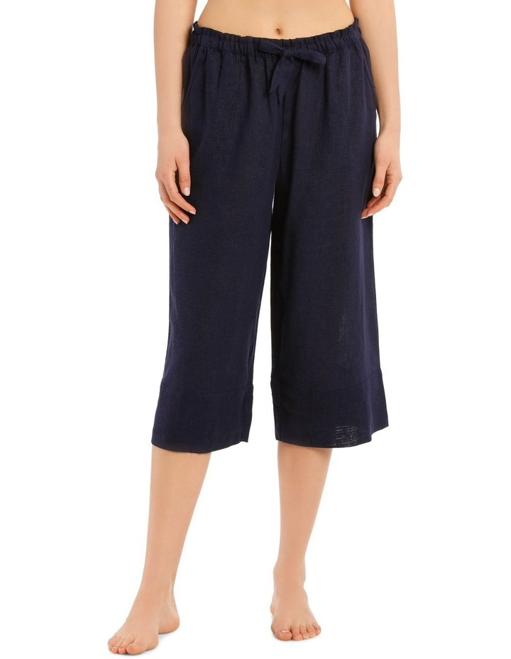 High Noon Linen Viscose 3/4 Pant image 1