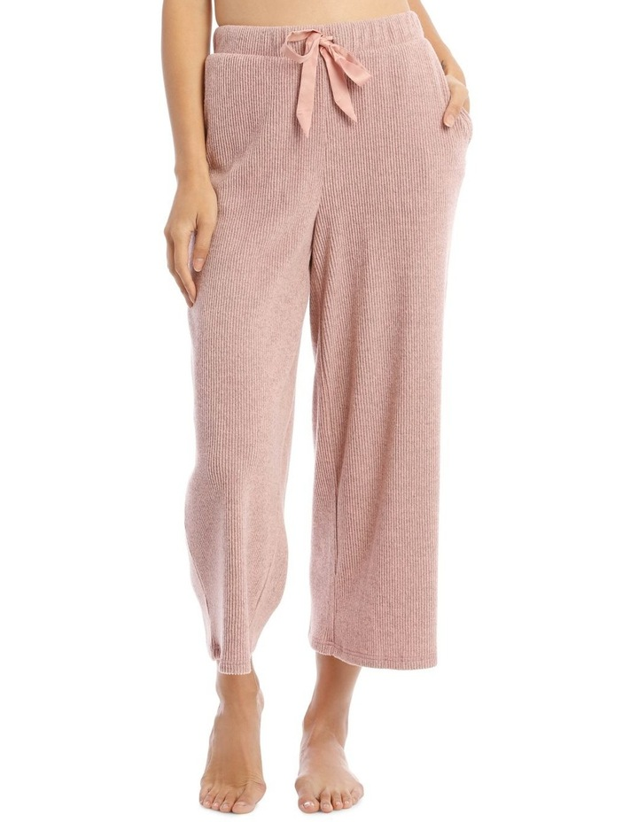 Wide Rib Pant in Pink image 1