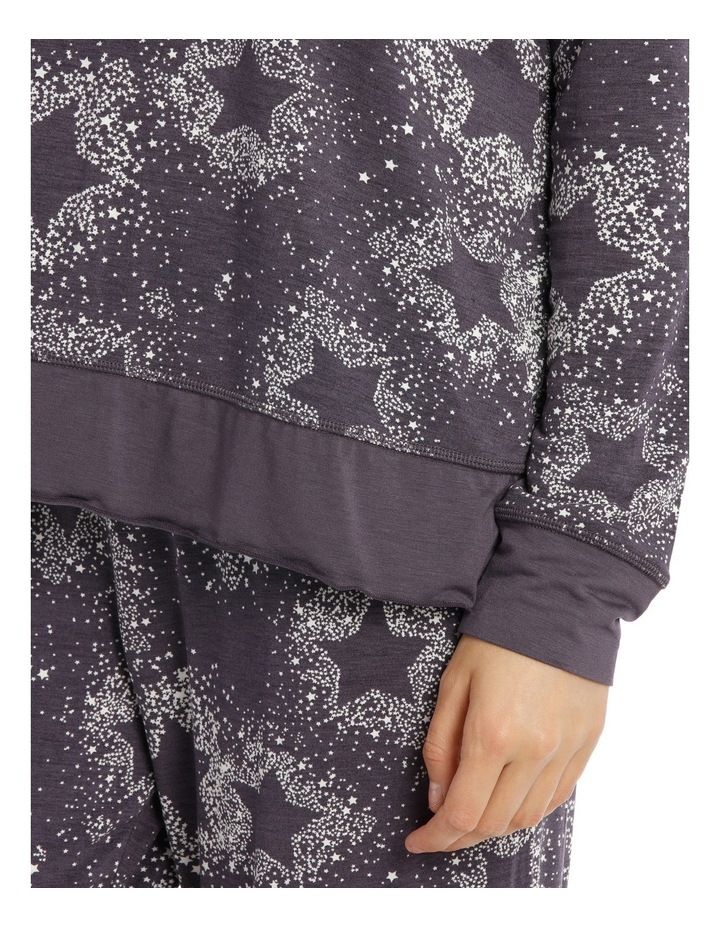 Counting Stars Long Sleeve Slouch Tee SCLW18046 image 3