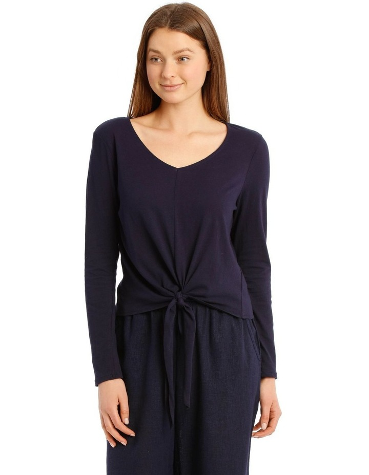High Noon Cotton Linen Knit Long Sleeve Top image 1