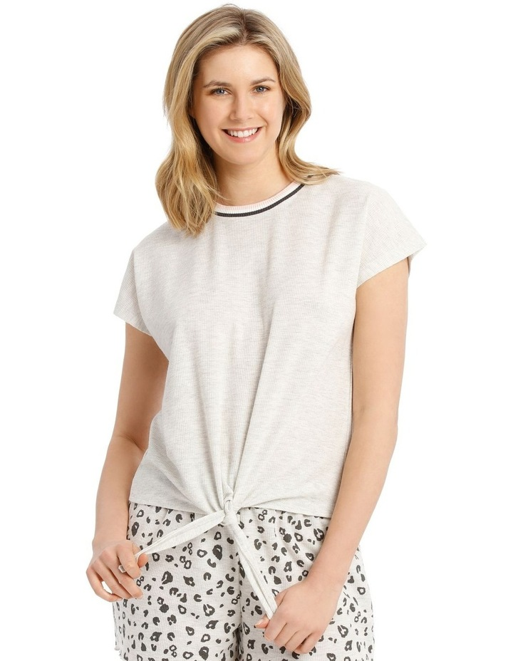 Midnight Love Front-Tie T-Shirt - Grey Marle image 1