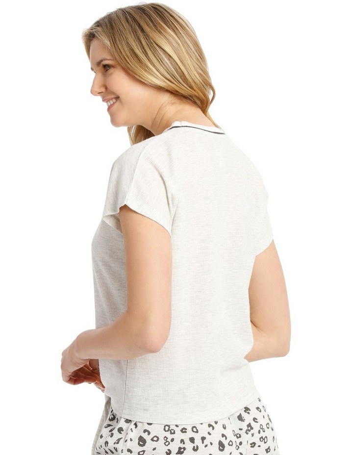 Midnight Love Front-Tie T-Shirt - Grey Marle image 2