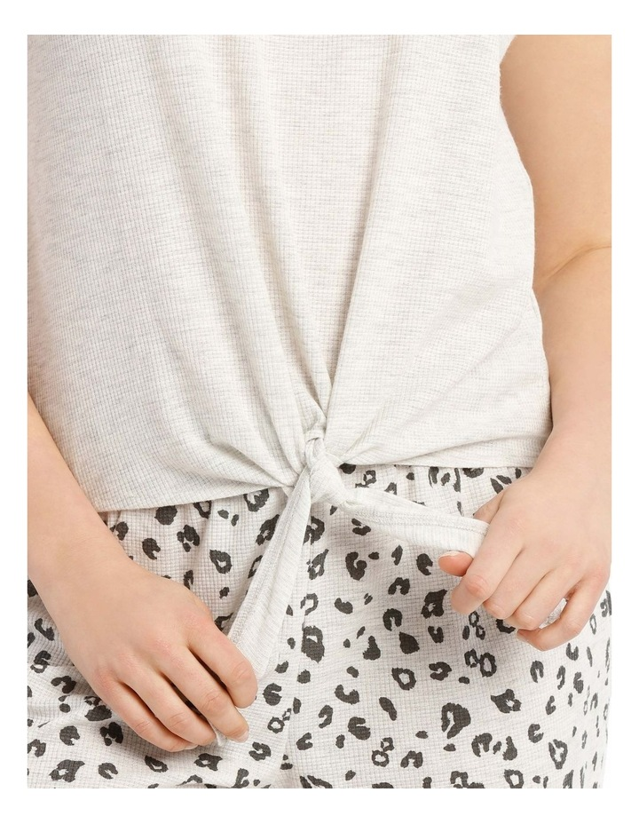 Midnight Love Front-Tie T-Shirt - Grey Marle image 3