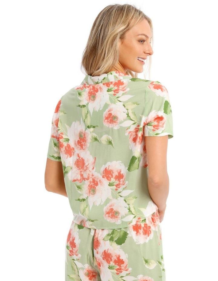 In Full Bloom Tie Front PJ Top image 2