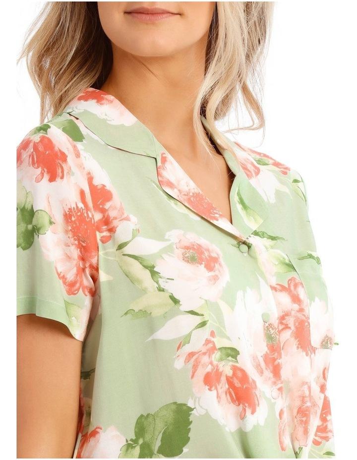 In Full Bloom Tie Front PJ Top image 3
