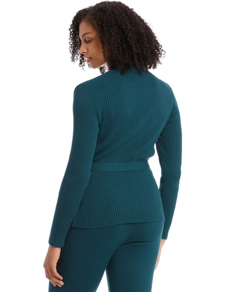 Cosy Comfort Fully-Fashioned Wrap Top in Emerald image 2
