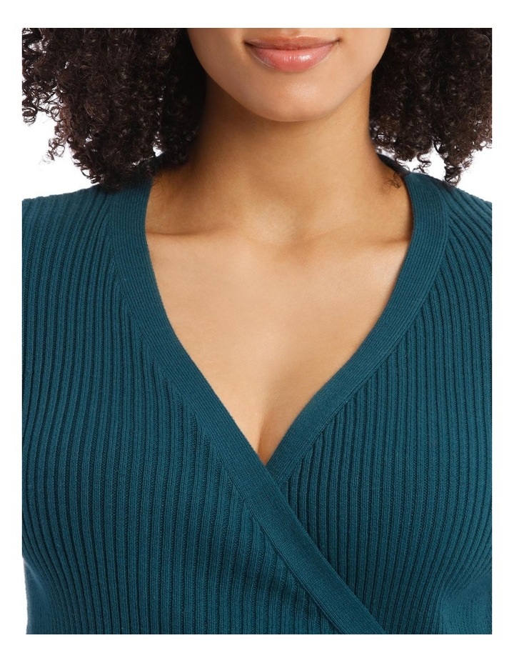 Cosy Comfort Fully-Fashioned Wrap Top in Emerald image 3
