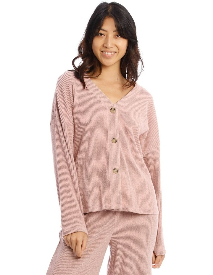 Cosy Comfort Wide Rib Long-Sleeve Top in Pink image 1