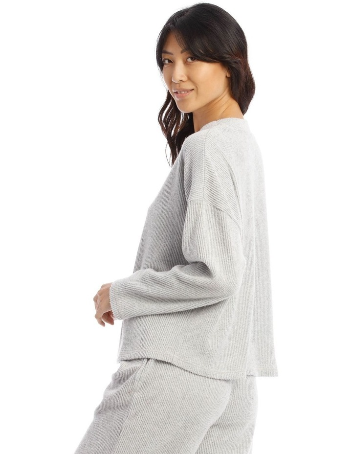 Cosy Comfort Wide Rib Long-Sleeve Top in Grey image 2