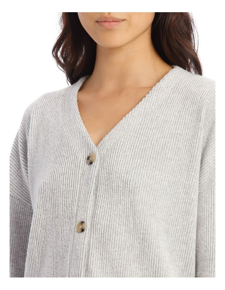 Cosy Comfort Wide Rib Long-Sleeve Top in Grey image 3