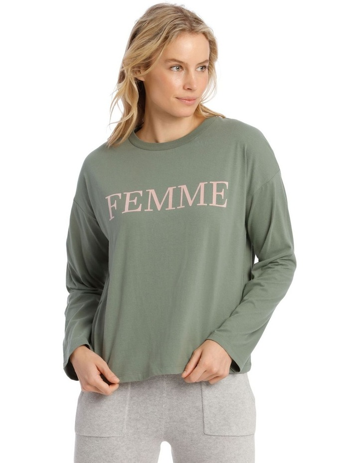 Cotton Rich Long Sleeve Boxy Tee image 1