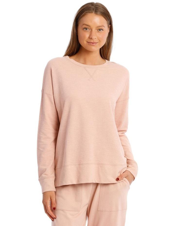 Cotton Rich Terry Pullover Sweatshirt image 1