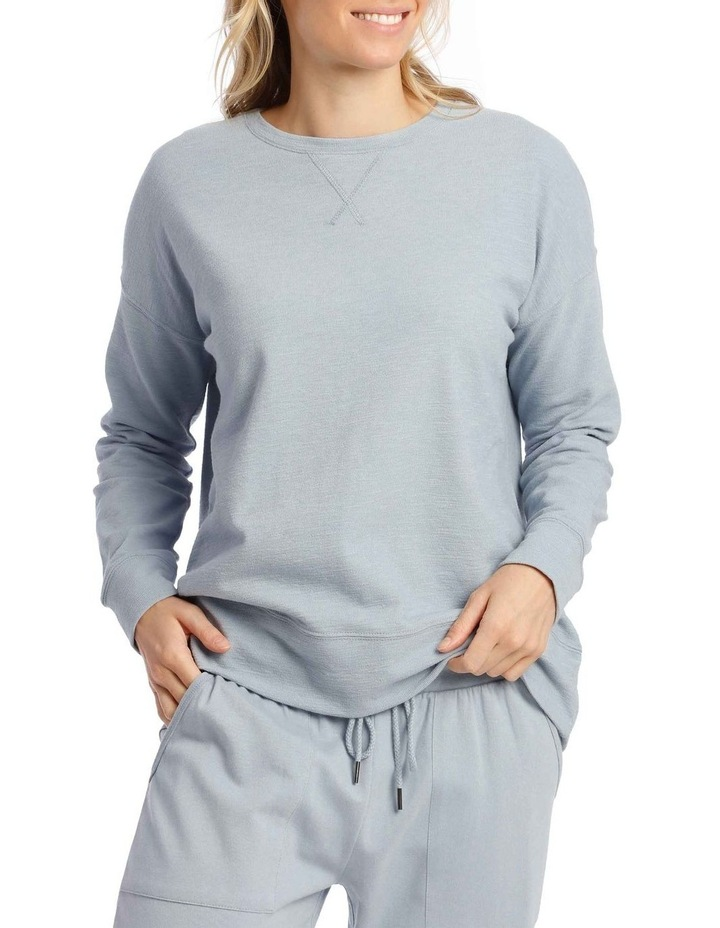 Cotton Rich Terry Pullover Sweatshirt image 1