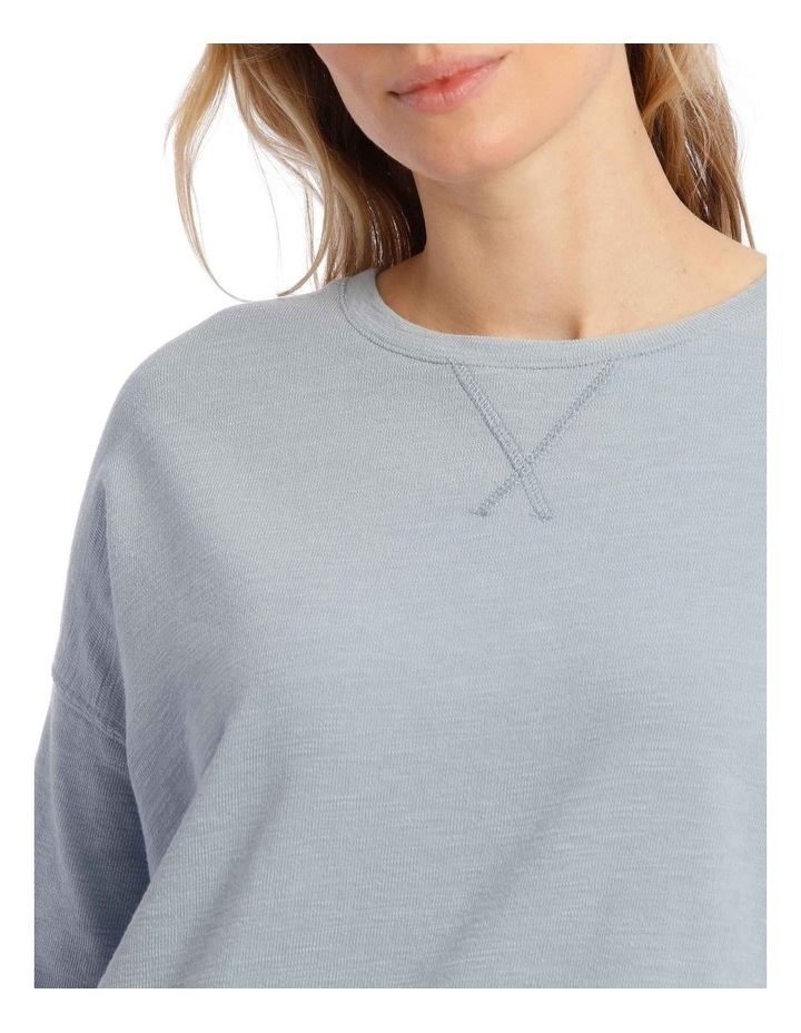 Cotton Rich Terry Pullover Sweatshirt image 3