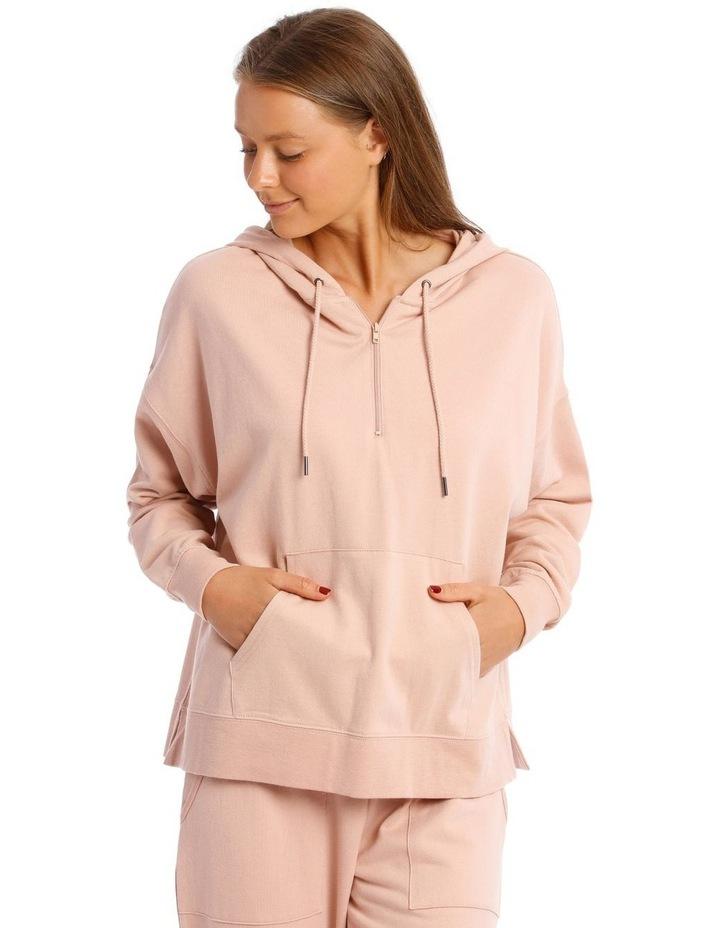 Cotton Rich Fleece 3/4 Zip Sweatshirt image 1