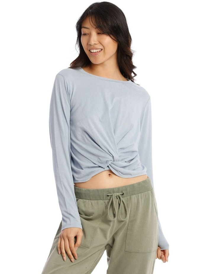 Cotton Rich Long Sleeve Twist Top image 1