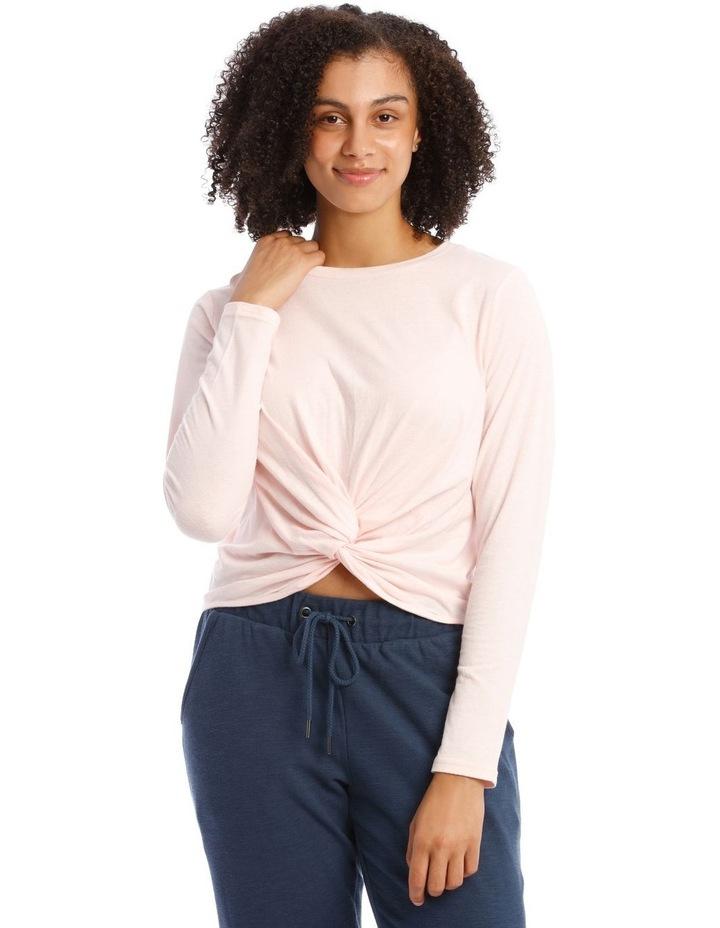 Cotton Rich Long-Sleeve Twist T-Shirt image 1