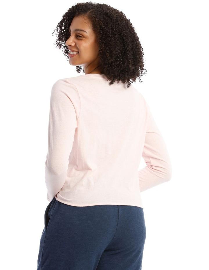 Cotton Rich Long-Sleeve Twist T-Shirt image 2