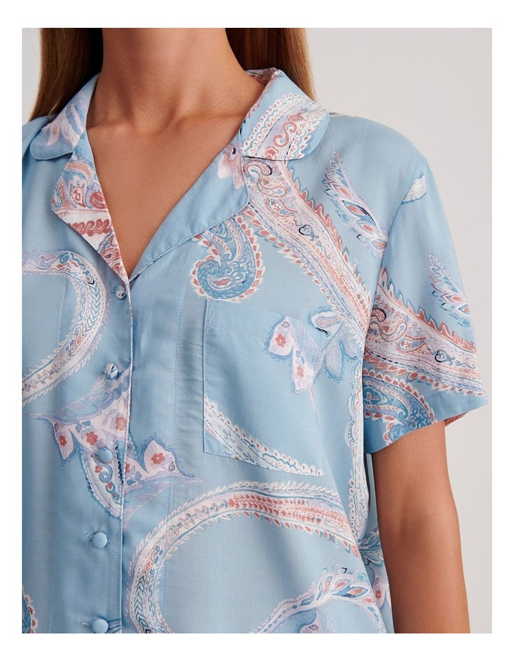 Short Sleeve Button Through PJ Top image 4