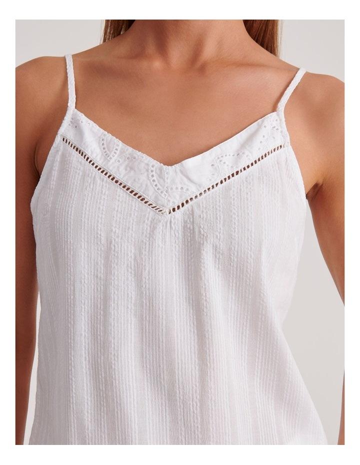 Seersucker Cami Sleepwear Top in Ivory image 5