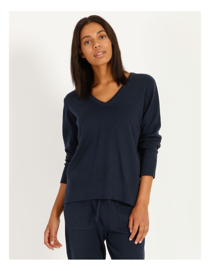 Fully Fashioned V-Neck Top image 1