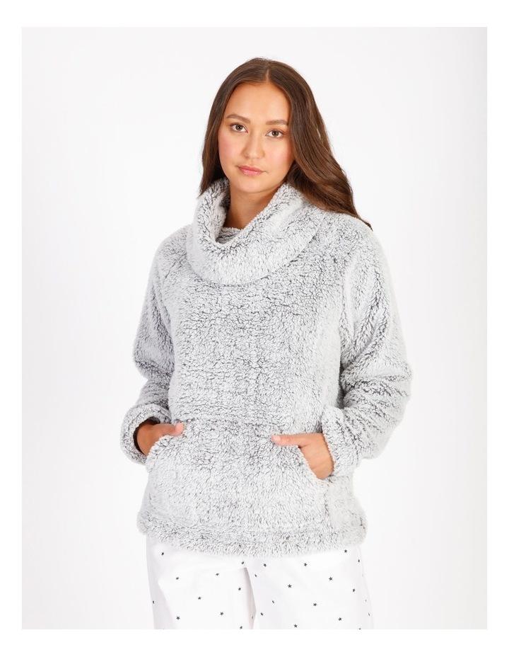 Textured Fleece Roll Neck Pullover image 1