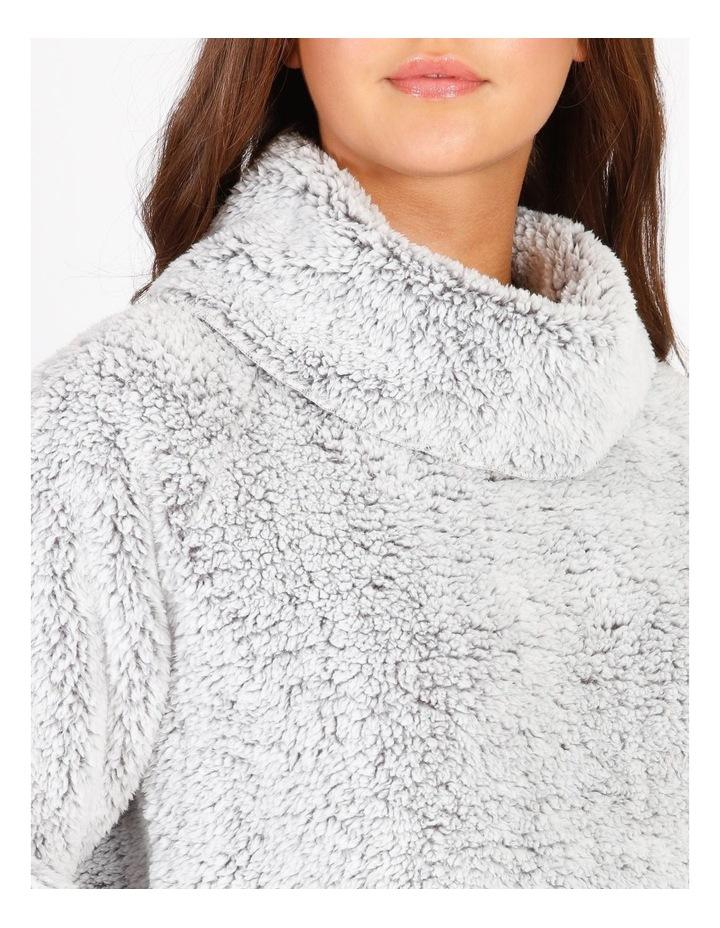 Textured Fleece Roll Neck Pullover image 3