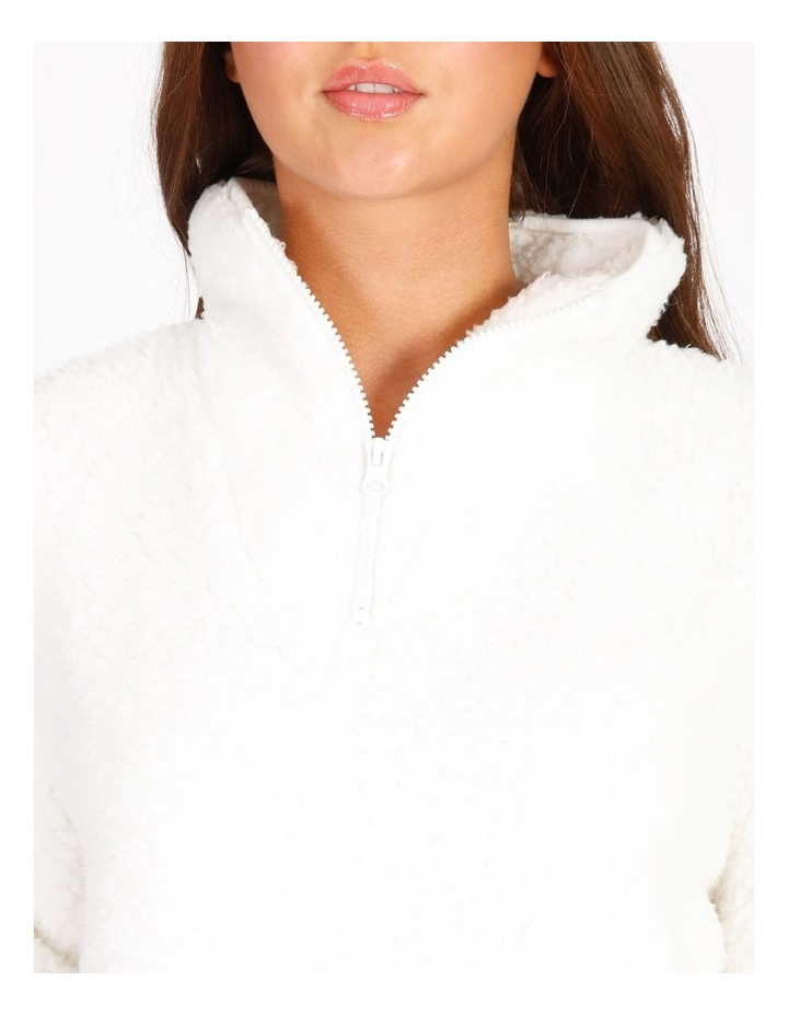 Shearling Half Zip Pull Over image 3