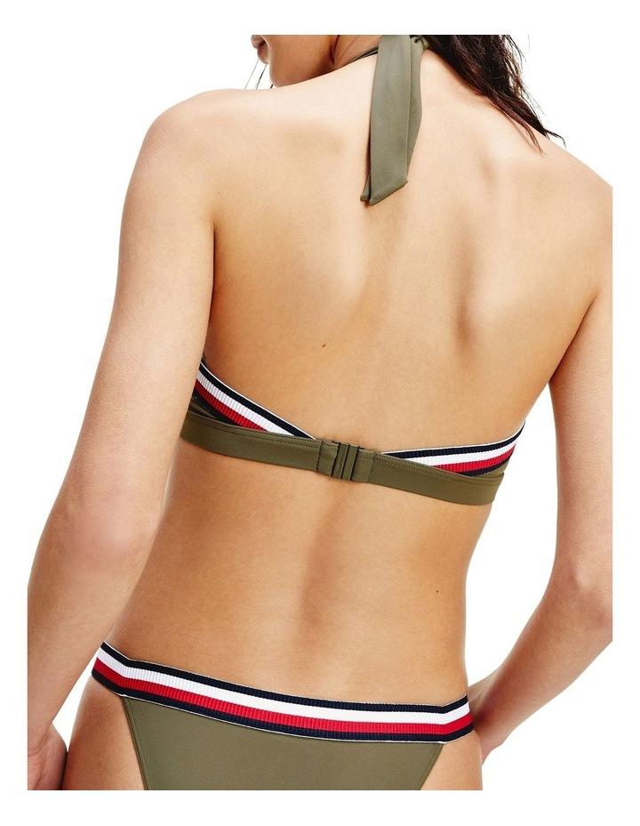 Signature Tape Triangle Cup Bikini Top Army Green image 2