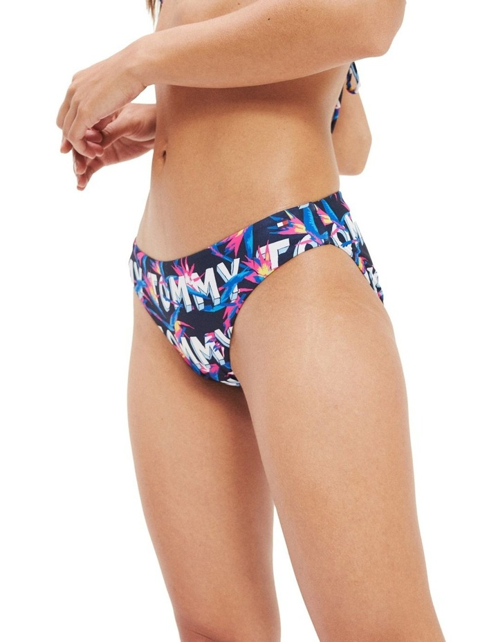 Swim Tropical Logo Print Bikini Bottoms image 1
