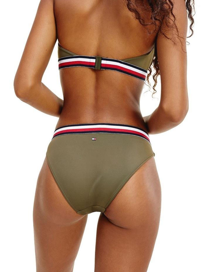 Signature Tape Belt Bikini Bottom Khaki image 2